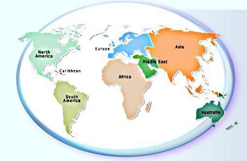 Карта мира отелей